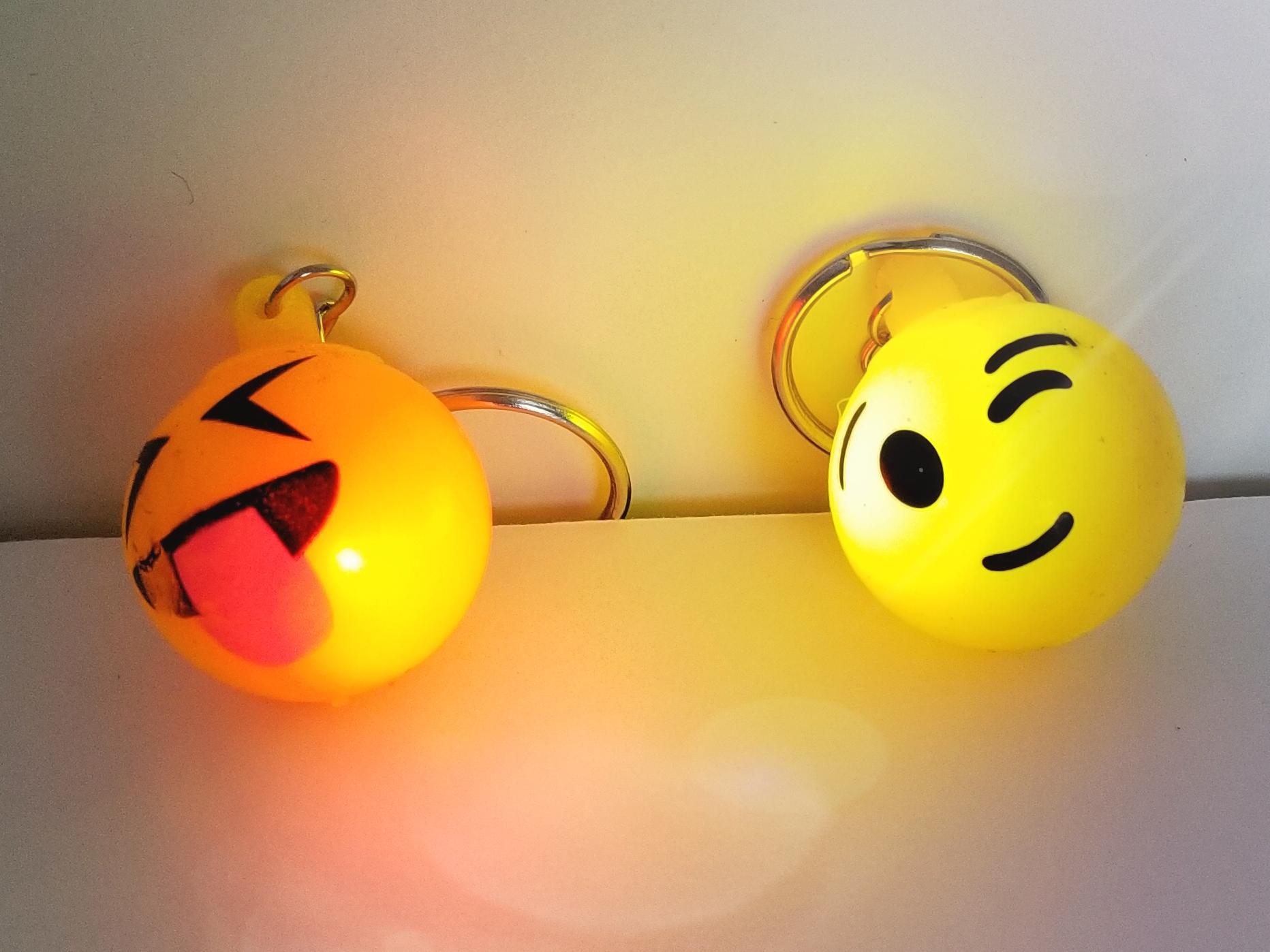 Emoji Light Up Key Chain