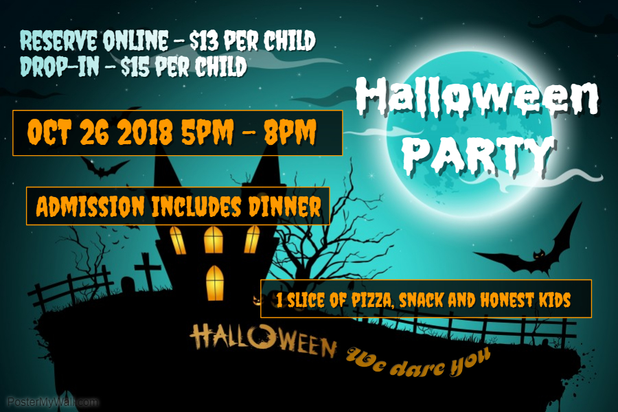 2018 halloween party la petite playhouse 3 hours of fun include dinner and tropicana juice
